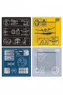 Star Wars Pack de 4 Platos de Melamina Blueprint