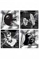Star Wars Pack de 4 Platos de Melamina Intergalactic