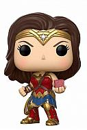 Justice League Movie POP! Movies Vinyl Figura Wonder Woman with Mother Box 9 cm