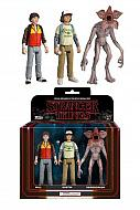 Stranger Things ReAction Pack de 3 Figuras Dustin, Will & Demogorgon 8 cm
