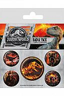 Jurassic World Fallen Kingdom Pack 5 Chapas
