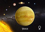 Map Cards Postal Venus 3D