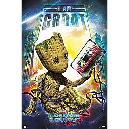 Guardianes de la Galaxia Vol. 2 Póster Groot (ref. 363)