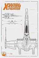 Star Wars Episode VII Póster X-Wing Plans (Ref. 325)