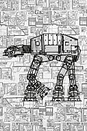 Star Wars Póster de metal AT-AT 32 x 45 cm