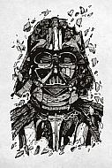 Star Wars Póster de metal Darth Vader 32 x 45 cm