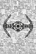 Star Wars Póster de metal Tie Advanced 32 x 45 cm