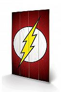 DC Comics Póster de madera The Flash Symbol 46 x 77 cm