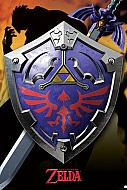 Legend of Zelda Póster Metallic Hylian Shield (Ref. 337)