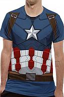 Captain America Civil War Camiseta Sublimation Captain America Suit Costume