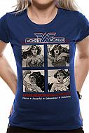 DC Comics Camiseta Chica Wonder Woman Retro Squares