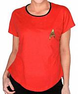 Star Trek Camiseta chica Uniform Roja