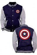 Marvel Captain America Chaqueta Béisbol Shield Logo